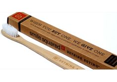 Not only is this kids' toothbrush made from sustainable bamboo and biodegradable, the company donates one to a child in need with each purchase. When you're done, you can even use it as a garden seed marker...