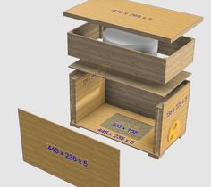 Plywood Honey Bee Swarm Bait Catch Hive and Nucleus Box - Dual Purpose How to DIY Plans