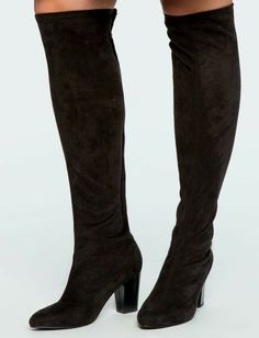 """Zelinda Over the Knee High Heel Boot Eloquii Sold Out Size 10 Generous Stretch - """"All About That Bass"""" - winter boots Knee High Heels, High Heel Boots, Heeled Boots, Halloween Heels, Halloween Queen, Winter Boots, Fall Winter, How To Stretch Boots, Comfortable Boots"""