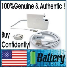"Genuine Original APPLE MACBOOK PRO 15"" 17"" 85W Magsafe L Shape AC Adapter A1343  GENUINE, NOT REPLICA! FREE EXTENSION CORD! RETAILS $99!"