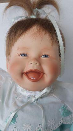 Vintage 1991 Ashton Drake KATHY BARRY-HIPPENSTEEL Porcelain My First Tooth Doll #TheAshtonDrakeGalleries #Dolls