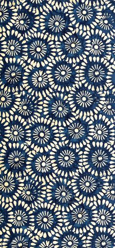 """Tonga Batik Kiss"" Indonesian batik (ink and wax) print in blue/indigo Pretty Patterns, Beautiful Patterns, Color Patterns, Floral Patterns, Floral Designs, Motifs Textiles, Textile Patterns, Textile Pattern Design, Indian Patterns"