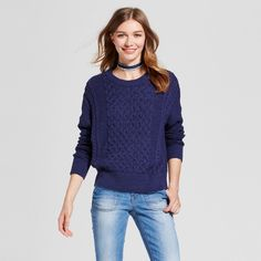 Women's Pullover Sweater - Mossimo Supply Co. Navy (Blue) XS