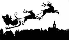 Images For > Santa Sleigh Silhouette Png