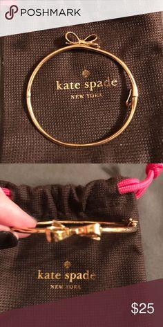 Kate Spade Gold Bangle Gold worn a few times. kate spade Jewelry Bracelets