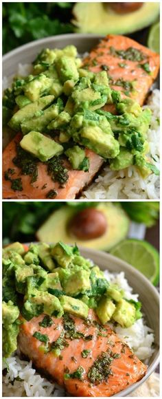 Avocado Salmon Rice Bowl | Tasty Food Collection