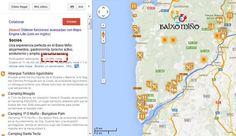 Mapa de ideas para descubrir la Comarca de O Baixo Miño. RT FB Turismo Baixo Miño