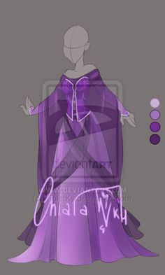 :: Adoptable Amethyst Outfit: AUCTION OPEN :: by VioletKy.deviantart.com on @DeviantArt