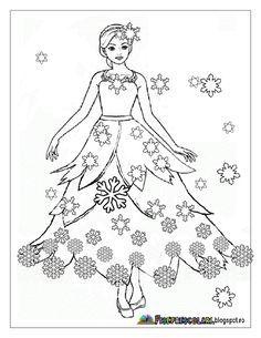 Färbung mit ZANA WINTER - Winterfee Bilder   Arbeitsblätter - Kindergarten