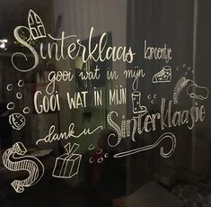 Stencils, Saint Nicholas, Chalkboard Art, Chalk Art, Drawing For Kids, Diy And Crafts, Projects To Try, December, Writing