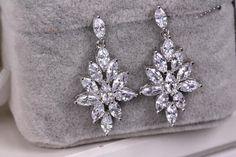 Chandelier earrings Bridal Chandelier earrings Wedding Earrings  Long wedding…