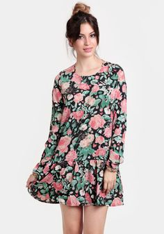 Heart Drop Waist Floral Dress By Lovers + Friends
