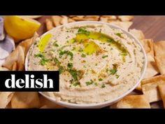 Making Cauliflower Hummus — Cauliflower Hummus Recipe How To Video