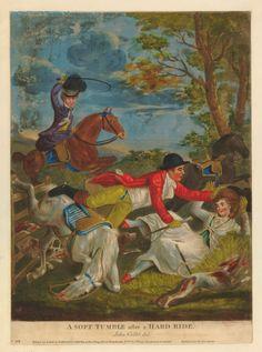 """A Soft Tumble after a Hard Ride"", John Collet, 1780; BM Satires 5816"