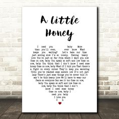 Nathaniel Rateliff & The Night Sweats A Little Honey White Heart Song Lyric Art Print