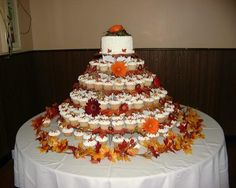 fall cake pictures   Fall Cupcake Wedding Cake Pictures http://sites.google.com/site ...