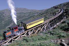 Cog Railway, Cog Railway ascending Mt. Washington, Photo Credit: NH Division of Travel and Tourism