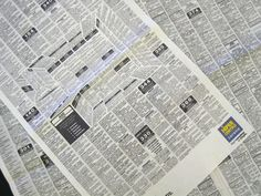 Clever Newspaper Ad Disguises A 3D Kitchen in the Classifieds