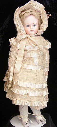 Antique French doll dress and hat pristine condition from jmenagerie on Ruby Lane