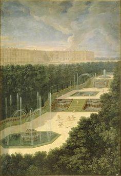 The Fountains of Versailles in the Time of Louis XIV:  vue du Bosquet des trois Fontaines (Cotelle)