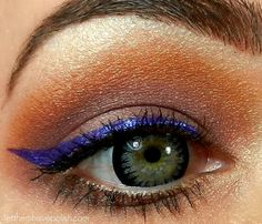 **Milani Ultra Fine Liquid Liner - Prismatic Purple / LTHP [Eyeshadow: TheBalm - Shady Lady Palette ~ Click thru for more details on the look!]