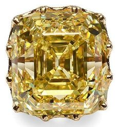 110-carat. The Cullinan Yellow Asscher-cut Diamond. This glorious yellow diamond originated in South Africa, making its way to the British crown jewels in 1907 under King Edward VII.