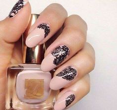 Most Beautiful & Trendy & Popular Nails Photos on 2016 . The adorableness attach babe is aloof in a adorableness attach . All for appearance design now present you the best beautiful, amazing and abracadabra nails . Look and Lace Nail Art, Lace Nails, Cool Nail Art, Stiletto Nails, Glitter Nails, Nail Art Design Gallery, Best Nail Art Designs, Simple Nail Designs, Design Art