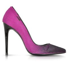 Loriblu Fuchsia Fluo Shades on Calf Hair Pump and other apparel, accessories and trends. Browse and shop related looks.