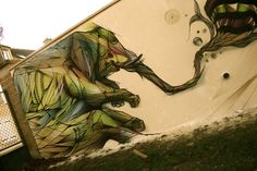 very cool wallpaintings by www.hopare.com