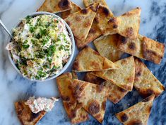 Creamy Salmon Dip | Classic salmon dip boasts one of our favorite sources of Omega-3 fats—but globs of mayo don't make this easy appetizer the healthiest option. Our mayo-free version is just as satisfying and indulgent, thanks to Greek yogurt and Neufchâtel cream cheese, which contains 1/3 less fat than regular cream cheese. On its own, smoked salmon is sky-high in sodium and can be a bit overpowering—so we scaled it back by using mostly fresh salmon. Healthy Appetizers, Appetizer Dips, Appetizer Recipes, Light Appetizers, Seafood Appetizers, Dip Recipes, Light Recipes, Salmon Dip, Smoked Salmon