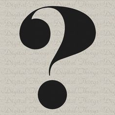Typography Print Question Mark Script Printable by DigitalThings,