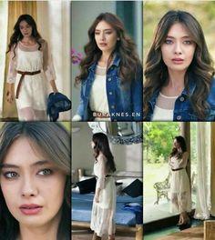 kara sevda Turkish Fashion, Turkish Beauty, Turkish Actors, Kara, Beauty Women, Ideias Fashion, Cool Style, Celebrity Style, Hair Makeup