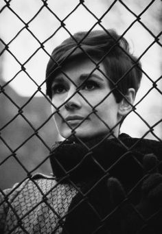 Audrey Hepburn...that hair is amazing
