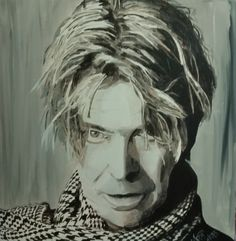 PORTRÄT DAVID BOWIE/Acryl auf Leinwand/58 x 58cm Spirited Art, David Bowie, Fictional Characters, Canvas, Fantasy Characters
