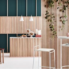 Are you an Architect or Designer looking to create a difference with your next project? Porta Contours is a range of architectural timber linings that allows you to create either a calming and warm at Restaurant Interior Design, Commercial Interior Design, Commercial Interiors, Architecture Restaurant, Interior Architecture, Interior Exterior, Exterior Design, Creative Office, Design Scandinavian