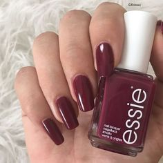 anytime is the right time for warm deep plum polish essie 'bahama mama'. creamy and rich this tropical beauty works winter, spring, summer or fall – gorgeous is always in fashion.