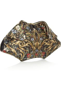 Alexander McQueen|De Manta printed silk clutch.