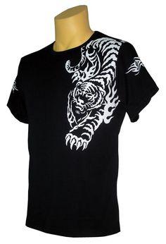5428453d3 Tiger Tattoo Black T-shirt Tiger T Shirt, Tattoo Black, Tiger Tattoo,