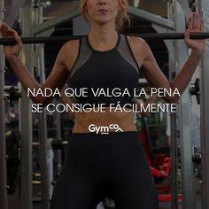 ¡Nada que valga la pena se consigue fácilmente! #gymco #gymcosportwear #gym #consigue #facil #tips #frases #frasesdemotivacion #frasespositivas #frasesdeejercicio