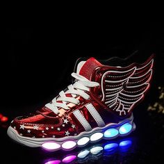 7249a6d2d STRONGSHEN New USB Charging Kids Sneakers Fashion Luminous Lighted Colorful  LED lights Children Shoes Casual Flat Boy girl Shoes