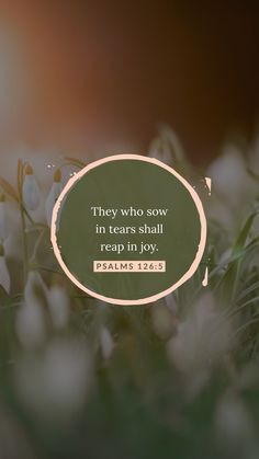 Psalms They that sow in tears shall reap in joy. Biblical Quotes, Bible Verses Quotes, Jesus Quotes, Bible Scriptures, Faith Quotes, Bible Verse Wallpaper, Bible Encouragement, Bible Words, Favorite Bible Verses