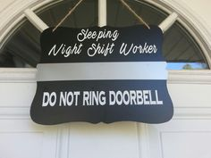 Door Hanger- Corrections Officer - Night Shift Worker- Do not ring doorbell-Sleeping Sign - Law Enforcement-Thin Silver Line- Thin Gray Line by GeoDreams on Etsy Correctional Officer Humor, Police Humor, Nurse Humor, Police Officer, Medical Humor, Police Life, Nurse Life, Rn Nurse, Work Memes