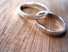Wedding bands set wedding band wedding rings set mens ring unisex ring Highly Polished. $69.00, via Etsy.