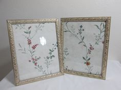 Picture Frames Matching Set of 2 Gold 8 x 10 Metal by LuRuUniques on Etsy