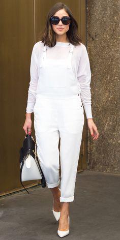 Trend Alert: Celebrities in Overalls - Olivia Culpo from #InStyle