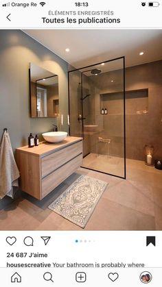Ideas Bathroom Remodel Shower Design Toilets For 2019 Home Room Design, Dream Home Design, Home Interior Design, House Design, Design Interiors, Bathroom Design Luxury, Modern Bathroom Design, Simple Bathroom, Nature Bathroom