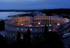 Pula Arena, Croatia - the best intact colosseum in the world~ some say it is worth seeing this over the colosseum in Rome! They still use it today.