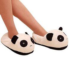 Malloom® Les Hommes Panda En Peluche Hiver Antidérapants Chaleureuse Maison  Couverte Pantoufles