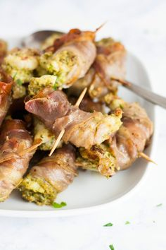 This Shrimp with Pesto and Prosciutto recipe easy and tastes delicious. It's made in 10-15 minutes and uses only 3 ingredients. Perfect for a starter at your next dinner party!