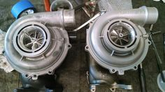 LLY rebuilt, P/P, 10 blade turbine, low profile vanes, TCT comp wheel.  LBZ rebuilt, P/P, 10 blade turbine, stock vanes, cast 63.5mm comp wheel.  Should be good runners!!!